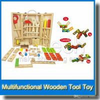 Wholesale Baby Toys Maintenance Box Wooden Toy Tools Kids Wooden Multifunctional Tool Set Tools for Baby Birthday Gift
