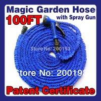 Wholesale TOP Goods Lenght M Plastic Connector FT Blue Garden Water Hose Spray Gun