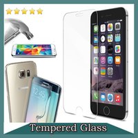Wholesale 0 mm Tempered Glass Screen Protector For iPhone S iPhone SE S Plus Galaxy Note S6 edge Plus S5 S4 LG G4 Sony HTC M9 Moto G3