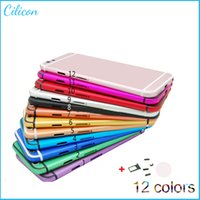 Wholesale New Style For iPhone6 Aluminium Back Housing Cover With Side Buttons SIM Card Tray for iPhone Battery Door Cover colorful Lines