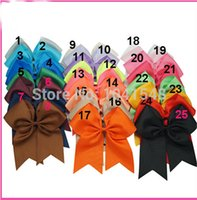 Wholesale 25 Colors Girl Baby Toddler kid favour Dancing Hair Clips Bow Hair Clips FOR KIDS BB clip inches X14