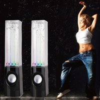 amazing cell phones - Water Dancing Music Speaker With Amazing Sound Effect Mini LED Speaker USB Speakers for Cell phones Computer etc
