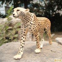 africa cheetah - Safari Environmental protection kids baby toy anime dinosaur toys animal word Africa Cheetah action figure minion brinquedos