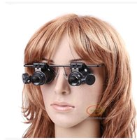 Wholesale Herramientas Relojero x Magnifier Magnifying Led Light Glass Loupe Lens Eye Jeweler Watch Repair gift Scarves Freeshipping Dropshipping