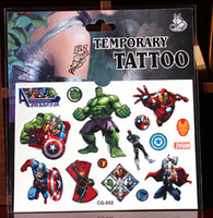 Wholesale Marvel Super Hero Captain America Waterproof tattoos body painted fake tattoo arm lower back tattoo paste wh5