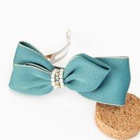 add hair clips - Added New Korean hair accessories fabric bow pearl hairpin headdress Yiwu mixed batch