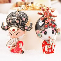 artiste rings - Unique Couples Gift Niche Artistes Chinese Opera Style Keychain Creative Bag Buckle Car Key Ring Key Chain Valentine s Day Unique Couples G