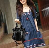 Wholesale Hot Sale Korean Summer Fashion Maternity Dresses plus size national wind pregnant women dress