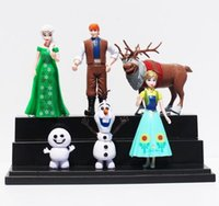 Wholesale hot sale Frozen Fever Queen elsa anna olaf sven PVC Figure Toys Collection Model Dolls Toy Christmas Gift For Children set