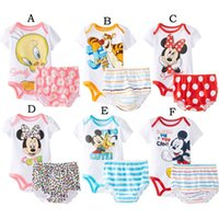 newborn clothes - 2015 summer new fashion cartoon baby Romper suits comfortable cotton clothes suit infants newborn baby clothing