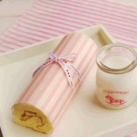 Wholesale Pink Stripe Packaging greaseproof paper greaseproof paper baking paper candy wrappers