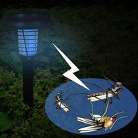 anti mosquito light - UV LED Solar Powered Outdoor Yard Garden Lawn Anti Mosquito Insect Pest Bug Zapper Killer Trapping Lantern Lamp Light with spike