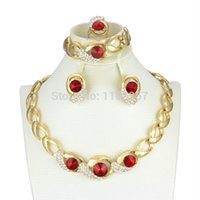 Others fashion in turkey - AAAA New Products K gold plated Ruby Jewelry Sets in turkey Fashion Women Prom Party Banquet Preferred Jewelry Set AL033
