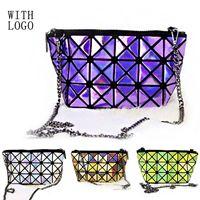 Wholesale Fold Over Geometric Zipper Chains Women Hand Bags Japan Brand Bao Bao Good Quality Shoulder Messenger Bag
