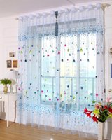 Wholesale Blue pink balloons Cartoon window Screens curtains for kids bedroom