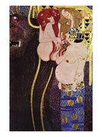 Oil Painting beethoven frieze gustav klimt - Wall Art The Beethoven Frieze Gustav Klimt Painting Canvas Reproduction High quality Hand painted