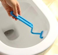 Wholesale 1 PC Home plastic Toilet Brush Scrubber S type Cleaner Clean Brush Bent Bowl Handle ZH321