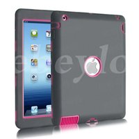 Wholesale Defender Shockproof Robot Case Military Extreme Heavy Duty Silicon Cover for ipad Air Mini