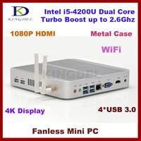 Wholesale Kingdel Thin Client Mini Computer HTPC Intel i5 U Dual Core GB RAM GB SSD USB WiFi HDMI K supported