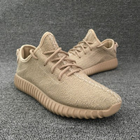 Wholesale 2016 Kanye West Yeezy Boost Oxford Tan Black Moonrock Shoes Fashion Sneakers Yeezy Boost Turtle Dove Gray Running Shoes Online