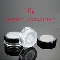 Wholesale Small Travel Jars - 10g small empty clear plastic jars containers with sifter for loose powder, Mini samples loose powder tin box for travel