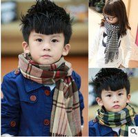 Wholesale New Thicken Warm Vintage Lattice Scarf Collar Children Boy Gir Knitted Warm Scarves Children Boy Gir Winter Scarf Collar X1B19D