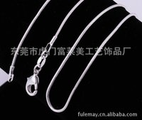 Wholesale New XMAS Solid Silver mm Snake Chain Necklace inch