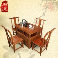 Cheap Ming and Qing classical Chinese furniture, solid wood mahogany rosewood tea Taiwan Kung Fu tea table tea tables and chairs exqui