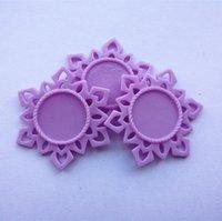 bathroom settings - Purple Resin Snowflake Base Setting Flatback Planar Settings Fit for MM Round Glass Cabochons