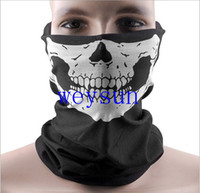 Wholesale DHL Freeshipping Skull Design Multi Function Bandana Ski Sport Motorcycle Biker Scarf Face Masks