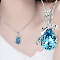 rhinestone chain - Hot New Girl s Women s Rhinestone Chain Crystal Necklace Pendant Colour
