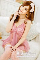 Wholesale hot New women sexy skirt Lingerie sexy lingerie pink lace suspenders enticement free shipoping