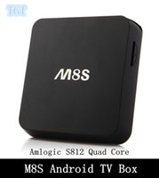 Wholesale DHL FREE M8S TV Box Amlogic S812 Android TV Box Quad core GB RAM GB ROM Dual band G G K XBMC HD Smart tv Media Player M8 Android