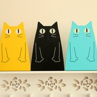 Wholesale 2 PAIR Book Holder Stand Cute Cat Rabbit Shape Decorative Bookends Desk Organizer Stationery Office Supplies Holder Home