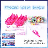 Wholesale 2014 Hot Christmas gifts colorful Frozen Anna Elsa loom bands DIY rainbow rubber bands activity gifts toys for children