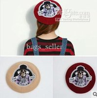 Wholesale Wool Berets For Women Skull Style color Mix New Arrvial C9