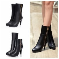 ankle cuff pump - Cuffed Zip High Heel Pumps Black Real Leather Ankle Boots US Womens Ladies Shoes
