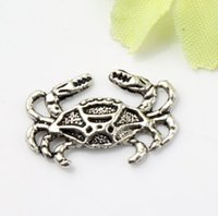 Charms animal crabs - 200pcs x12 mm Antique Silver Crab Claws Animal Charms Pendants Jewelry DIY Fit Bracelets Necklace Earrings L180
