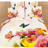 bedcover sets - 2015 New oil printed d bedding set wedding red Duvet Quilt cover bedcover Bedsheets cotton king queen size bed set