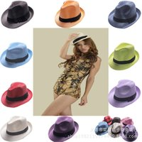 active vacations - DHL Korean style multi colors sun hat hat jazz sun hat women beach hats Beach Vacation Holiday Stingy Brim caps