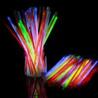 Wholesale DDA3650 Fluorescence Sticks Glow Sticks Light Stick Glo Sticks Glow Bracelets vs LED glow glasses led glow ball concert Band Party