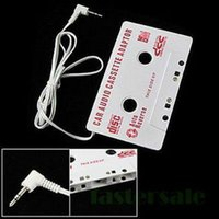 Wholesale New Audio Car Cassette Tape Adapter Converter MM For iPod video nano MP3 CD MD