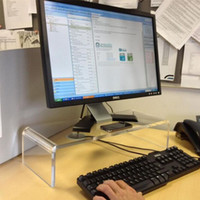 Wholesale High quality Acrylic Computer Monitor Desk Riser Stand Clear L W mm H