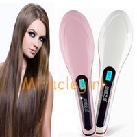 auto tools uk - 10pcs Hot Selling Electric Hair Straightener Comb LCD Ion Brush Auto Straight Tool EU US UK
