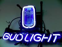 beer can light - NEW BUD LIGHT CAN BUDWEISER HANDICRAFT REAL GLASS TUBE NEON SIGN LIGHT BEER BAR PUB quot X14 quot