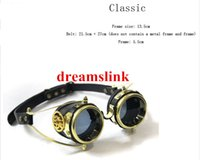 Wholesale Steampunk gear vintage punk steamgoggles Outdoor Bike Goggles Party windproof mirror
