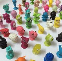 Wholesale 50 bag good Cupule kids Cartoon Animal Action Figures toys Sucker kids Mini Suction Cup Collector Capsule model