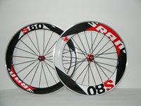 sram - Clincher carbon wheelsets Super light Wheelset SRAM S60 mm S80 mm Clincher c carbon Alloy road bike wheels with Novatec hubs