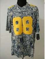 american apparel embroidery - 2014 New USD Dollars American Football Jerseys Green Money Mens Football Jersey Brand Embroidery Football Wears Fashion Outdoor Apparel