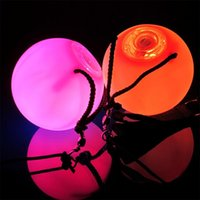 Wholesale 2PCS LED POI Thrown Balls for Professional Belly Dance Level Hand Props New EB6458